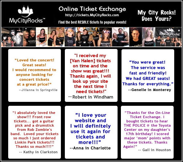 MyCityRocks Ticket  Exchange