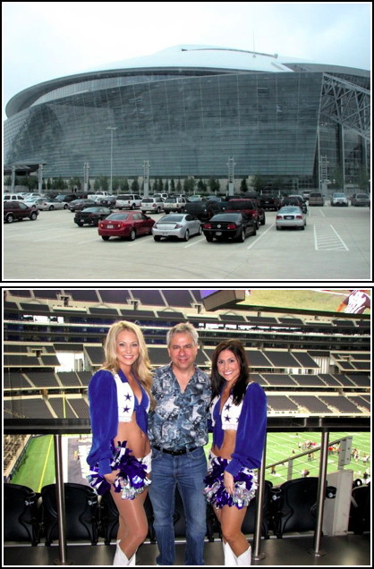 MyCityRocks visit to the  Dallas Cowboys Stadium and Dallas Cowboys  Cheerleaders