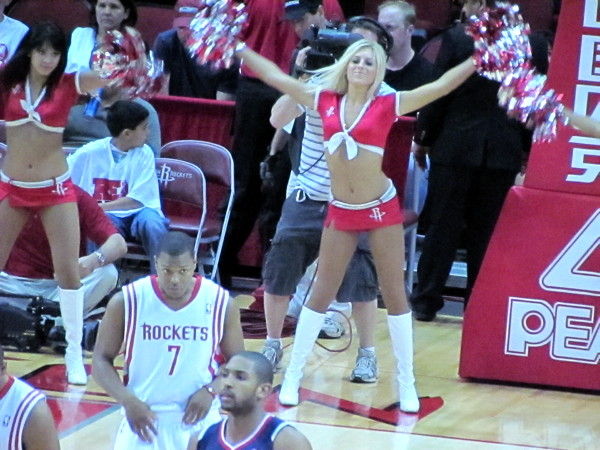 MyCityRocks at Toyota Center for the Rockets Power Dancers in Houston, Texas