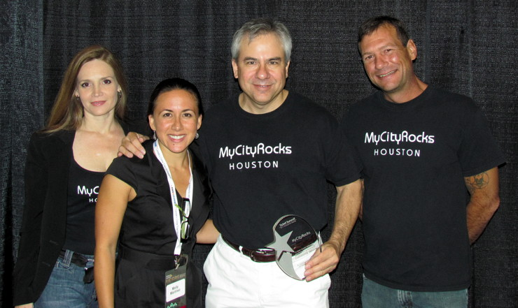 MyCityRocks Team Accepting Enterprise Award For Community Service