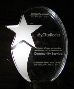 MyCityRocks Enterprise Award For Community Service