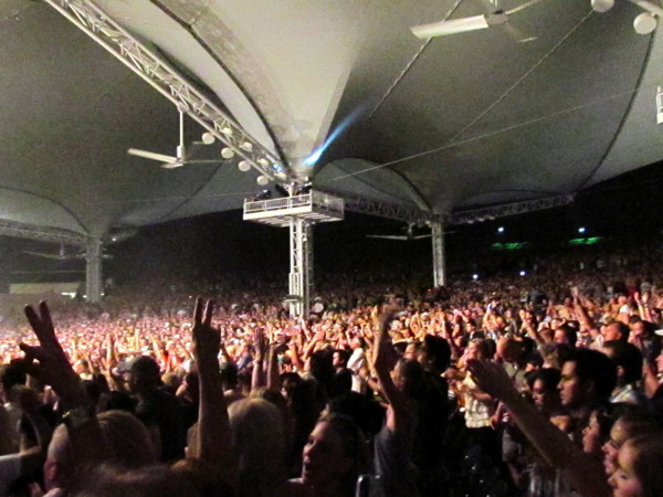 MyCityRocks at Cynthia Woods Mitchell Pavilion for the fans of Maroon 5 in The Woodlands, Texas