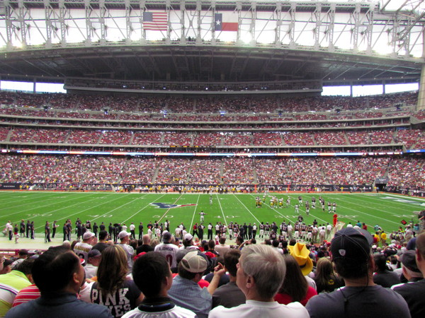 MyCityRocks watching the Houston Texans game at Reliant Stadium