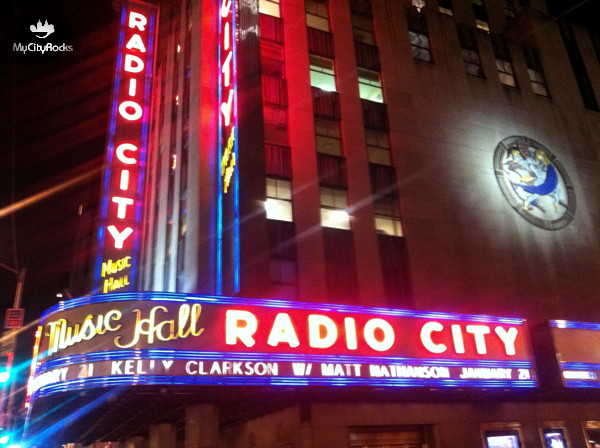 MyCityRocks visit to the  Radio City Music Hall in New York City, NY
